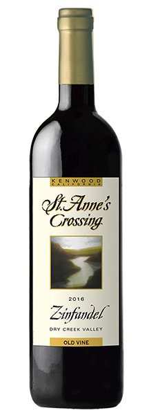 2016 St. Anne's's Crossing Zinfandel, Old Vine Vineyard, Dry Creek Valley
