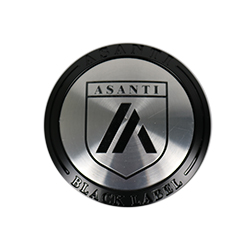 "ASANTI BLACK LABEL ABL15 ""TALL"" CENTER CAP - SATIN BLACK 128K81SB-H28 THUMBNAIL"