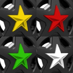 XD SERIES COLORED REPLACEMENT STAR FOR ROCKSTAR CAPS