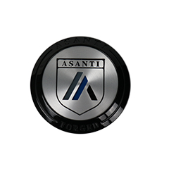 ASANTI CENTER CAP AF-CAP2GB GLOSS BLACK (NEW LOGO) SWATCH