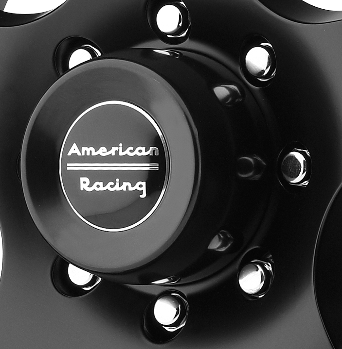 AMERICAN RACING AR23B SATIN BLACK REPLACEMENT CENTER CAP