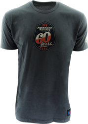 "AMERICAN RACING 60 YEARS ""RETRO"" TSHIRT - LT. GREY OR CHARCOAL Mini-Thumbnail"