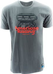 "AMERICAN RACING ""BLOWER"" TSHIRT - WHITE OR CHARCOAL_SWATCH"