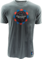 "AMERICAN RACING 60 YEARS ""KALEIDOSCOPE"" TSHIRT  - WHITE OR CHARCOAL_SWATCH"