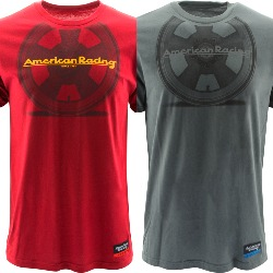 "AMERICAN RACING ""TT WHEEL"" TSHIRT - RED OR CHARCOAL"