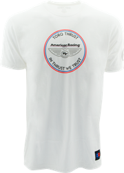 "AMERICAN RACING ""IN THRUST WE TRUST"" TSHIRT - WHITE OR BLACK MAIN"