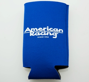 AMERICAN RACING CAN KOOZIE BLUE