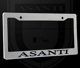 ASANTI CHROME LICENSE PLATE FRAME