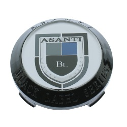 ASANTI BLACK LABEL REPLACEMENT CENTER CAP BLACK - CT-36NB (OLD LOGO) THUMBNAIL