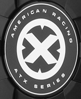 AMERICAN RACING ATX SERIES REPLACEMENT STICKER LOGO FOR  AX190 / AX191 / AX192 THAT HAVE CAP PART# SCB186 MAIN