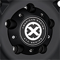 ATX SERIES AXE AX200 CAST IRON BLACK  CENTER CAP REPLACEMENT THUMBNAIL
