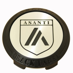 ASANTI BLACK LABEL FLOATER CENTER CAP -  BLACK (SHORT) C-100FABBN
