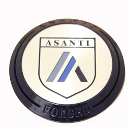 ASANTI FORGED BILLET FLOATER CENTER CAP - GLOSS BLACK (SHORT) C-100FABN MAIN
