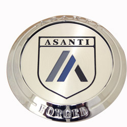 ASANTI FORGED STANDARD FLOATER CENTER CAP - CHROME C-100FFACN MAIN