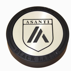 "ASANTI BLACK LABEL FLOATER CENTER CAP FOR ""SUV'S"" - GLOSS BLACK C-100FSUVBN SWATCH"