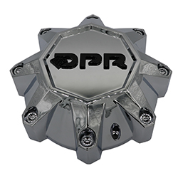 DPR CHROME CAP - CAP-DPR-C SHORT W/ SM BLK DIAMOND LOGO SWATCH