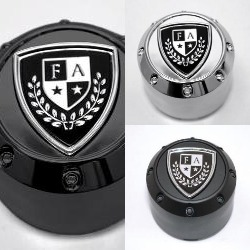 "FAIRWAY ALLOYS ""CREST"" CENTER CAP POP IN STYLE FA-9908 FA9909 FA-9910"