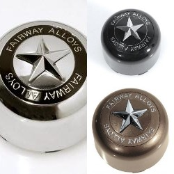 "FAIRWAY ALLOYS ""STAR"" CENTER CAP POP IN STYLE FA-9904 FA9906 FA9907"