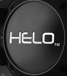 "HELO GLOSS BLACK LOGO FOR ""LARGE""  5 & 6 LUG CENTER CAP"