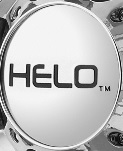 "HELO SATIN BLACK LOGO FOR ""SMALL"" 5 LUG CENTER CAP"