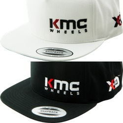 "KMC & XD SERIES LOGO SNAPBACK ""FLAT BILL"" HAT - WHITE OR BLACK THUMBNAIL"