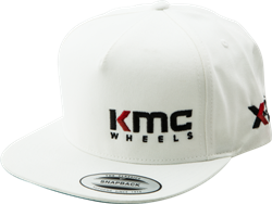 "KMC & XD SERIES LOGO SNAPBACK ""FLAT BILL"" HAT - WHITE OR BLACK Mini-Thumbnail"