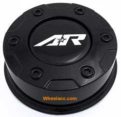 """AR Gloss Black Center Hub Cap Snap-In 3.26/"""" for AR329 AR629 Crush Rims"""