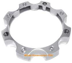 Open End Chrome 8 Lug Center Cap Wheel Accessories Usa