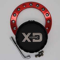 KMC XD SERIES M1050RED CENTER CAP SWATCH