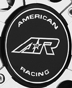 SHOP: AMERICAN RACING AR708 WHEEL REPLACEMENT LOGO STICKER M562ARLOGOB
