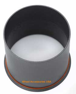 AMERICAN RACING OPEN END GLOSS BLACK CENTER CAP MAIN