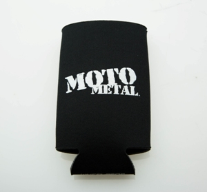 MOTO METAL LOGO CAN KOOZIE BLACK