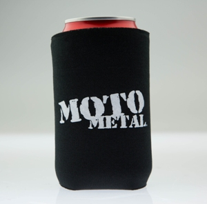 MOTO METAL LOGO CAN KOOZIE BLACK MAIN