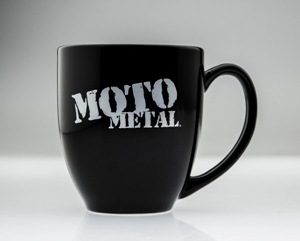 MOTO METAL LOGO COFFEE MUG BLACK