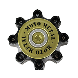 MOTO METAL MO979 REPLACEMENT CENTER CAP - SATIN BLACK SWATCH