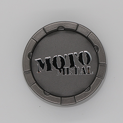 MOTO METAL MO983 REPLACEMENT CENTER CAP.  SATIN GRAY CAP.
