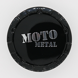 MOTO METAL MO983 REPLACEMENT CENTER CAP.  GLOSS BLACK CAP.