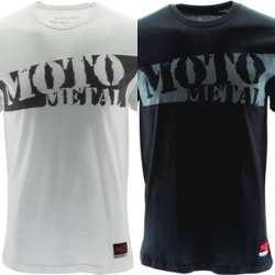 "MOTO METAL ""SLASHER"" TSHIRT - WHITE OR BLACK THUMBNAIL"