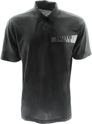 MOTO METAL WHEELS LOGO APPAREL POLO SHIRT THUMBNAIL