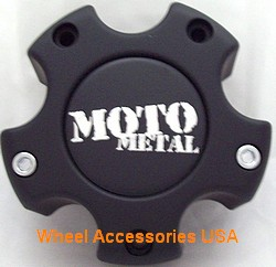 Moto Metal MO909B5127YB 308L121 Matte Black Center Cap