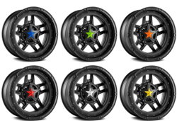 XD SERIES COLORED REPLACEMENT STAR FOR ROCKSTAR CAPS (5 PACK)