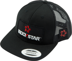 XD SERIED ROCKSTAR LOGO APPAREL SNAPBACK CURVED BILL HAT