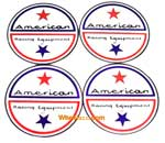 "AMERICAN RACING TWIN STAR LOGO 1.75"" (4 PACK)"