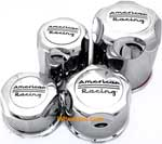 AMERICAN RACING CHROMED PLASTIC CENTER CAP CHROME LOGO THUMBNAIL