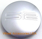 SR RACING SR6 SILVER CENTER CAP