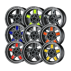 "NEW!!!  XD827 ""IN BETWEEN"" FULL SPOKE INSERT ACCENT COLORED REPLACEMENT (5 PACK) Mini-Thumbnail"