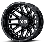KMC WHEELS XD SERIES OFFROAD WHEELS XD843 GRENADE DUALLY GLOSS BLACK