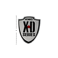 "KMC XD SERIES LOGO LARGE VEHICLE BADGE  4.3/4"" Mini-Thumbnail"