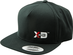 "XD SERIES LOGO SNAPBACK ""FLAT BILL"" HAT - GRAY OR BLACK Mini-Thumbnail"