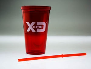 XD SERIESLOGO RED PLASTIC TUMBLER CUP